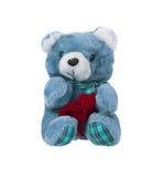 与围巾的玩具熊 免版税库存图片