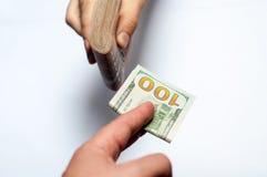 与货币的现有量 免版税库存图片