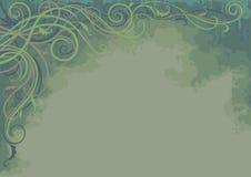 与水平的植物的背景- 免版税图库摄影