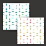 与水彩作用的传染媒介星无缝的样式 免版税库存照片