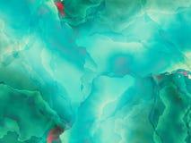 与水彩作用的抽象背景 免版税库存图片