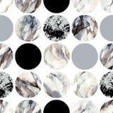 与水彩使有大理石花纹,成颗粒状,难看的东西,纸纹理的圈子 库存例证