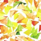 与水彩明亮的三角的无缝的重复样式 库存图片