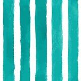 与水彩条纹的传染媒介无缝的样式 免版税库存照片