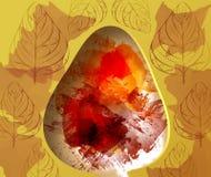 与水彩的秋天抽象背景飞溅 图库摄影
