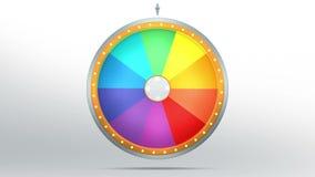 与10彩色空间的轮子时运 皇族释放例证