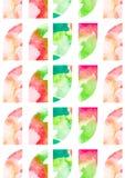 与水彩花纹花样的引号 免版税库存图片
