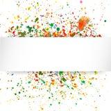 与水彩飞溅的抽象艺术性的背景 免版税库存图片