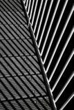 与阴影、板条和b的铁路轨的几何构成 库存图片