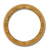 与阴影的圆的框架金子颜色 免版税库存图片