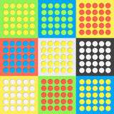 与阴影的抽象五颜六色的圈子孔在淡色背景 免版税库存图片