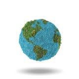 与阴影的抽象地球在白色背景 免版税库存照片