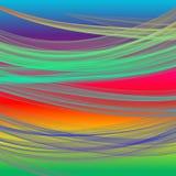 与阴影的明亮的彩虹颜色有薄雾的背景或毯子抽烟 库存照片