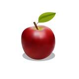 与阴影的有吸引力的红色苹果 图库摄影