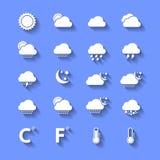 与阴影的白色天气象 免版税库存图片