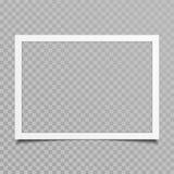 与阴影的空白的照片框架 免版税图库摄影