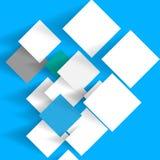 与阴影的纸在蓝色背景 库存图片