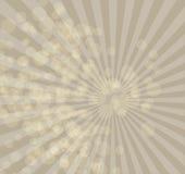 与任意光芒bokeh的米黄背景 库存照片