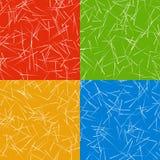 与任意线的抽象五颜六色的背景样式,任意s 向量例证