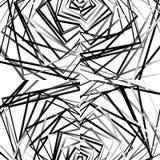 与任意,锋利,不规则的线的几何例证 Dy 皇族释放例证