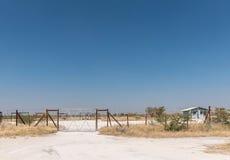 与洗手间的野餐斑点在Okaukeujo和Olifantsrus之间 免版税库存照片