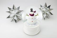 与12月的25日圣诞节日历在木块 免版税库存照片