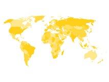 与主权国家和更大的依赖疆土的名字的世界地图 皇族释放例证