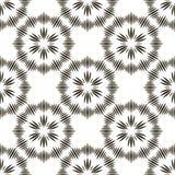 与黑条纹的几何重复的传染媒介装饰品 库存照片