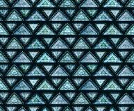 与绿松石三角和小点的无缝的东方样式 免版税库存图片