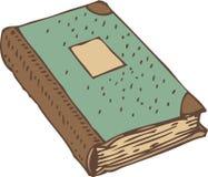 与绿松石盖子的闭合的书籍或古董总帐 库存图片