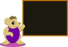 与黑板的逗人喜爱的老鼠 免版税库存图片