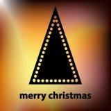 与黑树的金黄圣诞卡 免版税库存图片