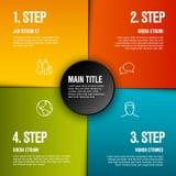 与4步的抽象infographic模板 免版税库存图片