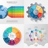 与7步,选择,零件,过程的四块infographic模板 库存照片