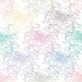与水母的无缝的五颜六色的样式 免版税图库摄影
