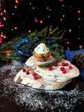 与黄油奶油的松饼 免版税图库摄影