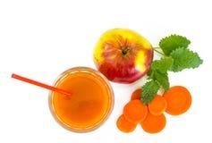 与黏浆状物质的混杂的蔬菜汁 库存照片