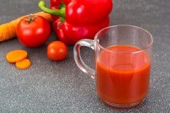 与黏浆状物质的混杂的蔬菜汁 免版税库存照片
