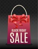 与购物袋的黑星期五销售图表 向量例证