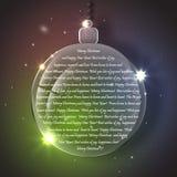 与玻璃晚上球的圣诞节背景 免版税库存图片