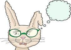 与玻璃的呜咽的兔子 向量例证