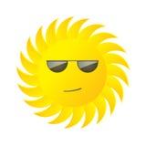 与玻璃的太阳 免版税库存照片