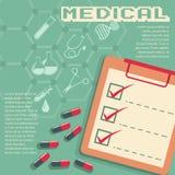 与医疗标志和文本的Infographic 向量例证