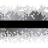 与黑白映象点的抽象背景 免版税库存图片