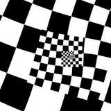 与黑白正方形的抽象背景 免版税库存照片