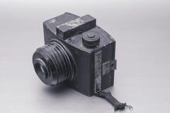 与黑白的透镜的葡萄酒照相机 库存照片