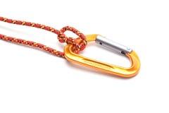 与绳索的一carabine 图库摄影