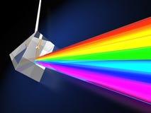 与轻的光谱的棱镜 免版税图库摄影