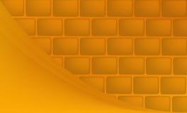 与整洁的墙壁和美好的弯曲的线的橙色背景 免版税库存图片
