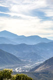 与215的安大略山在背景中 库存照片